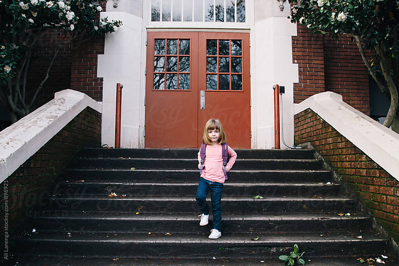First day of school by Ali Lanenga for Stocksy United