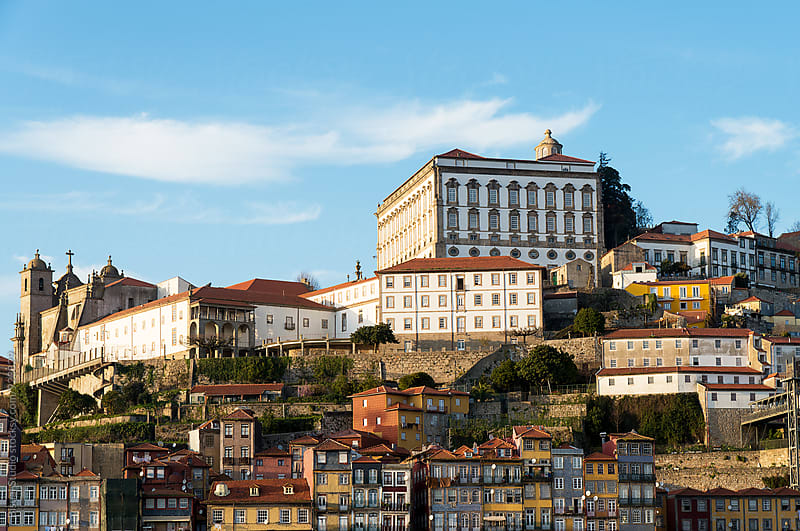 Views of the old town of Oporto from Gaia by Bisual Studio for Stocksy United