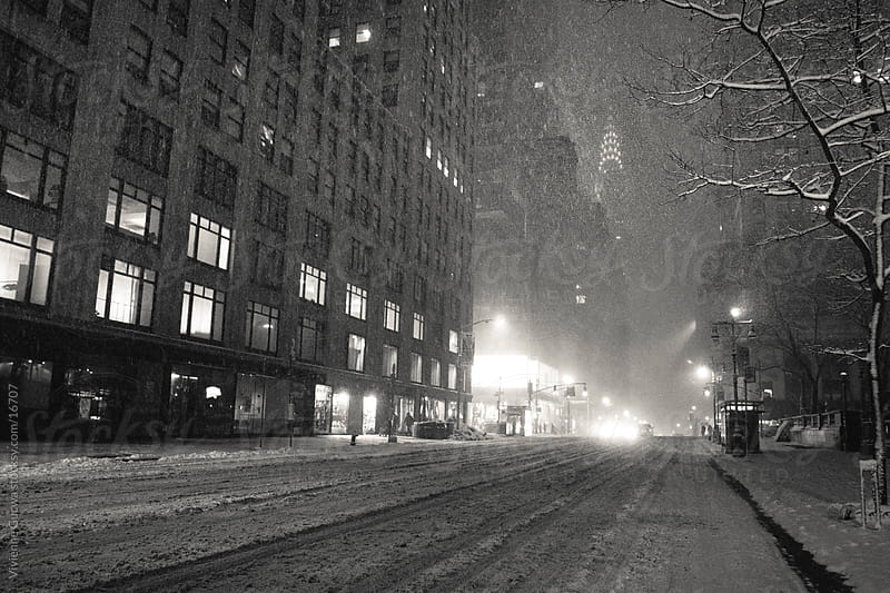 New York Winter - Chrysler Building in the Snow by Vivienne Gucwa for Stocksy United