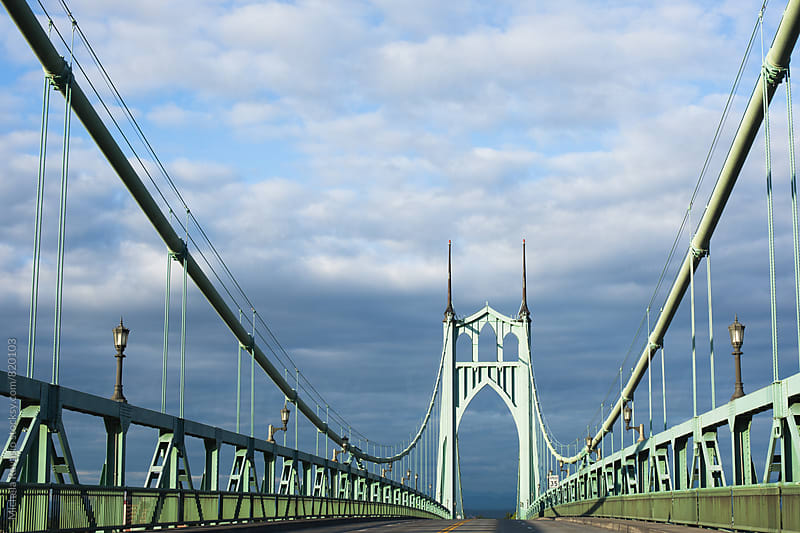 St. Johns bridge in Portland Oregon by michela ravasio for Stocksy United