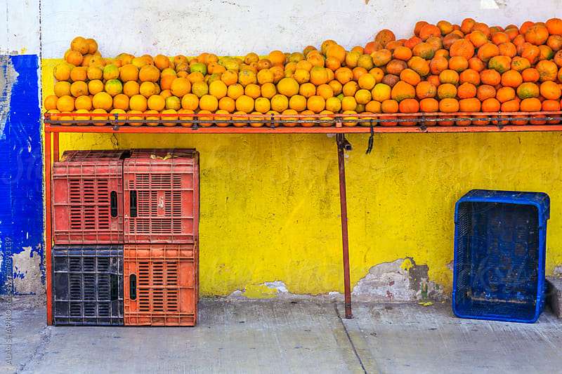 fruit stand in Mexico by alan shapiro for Stocksy United