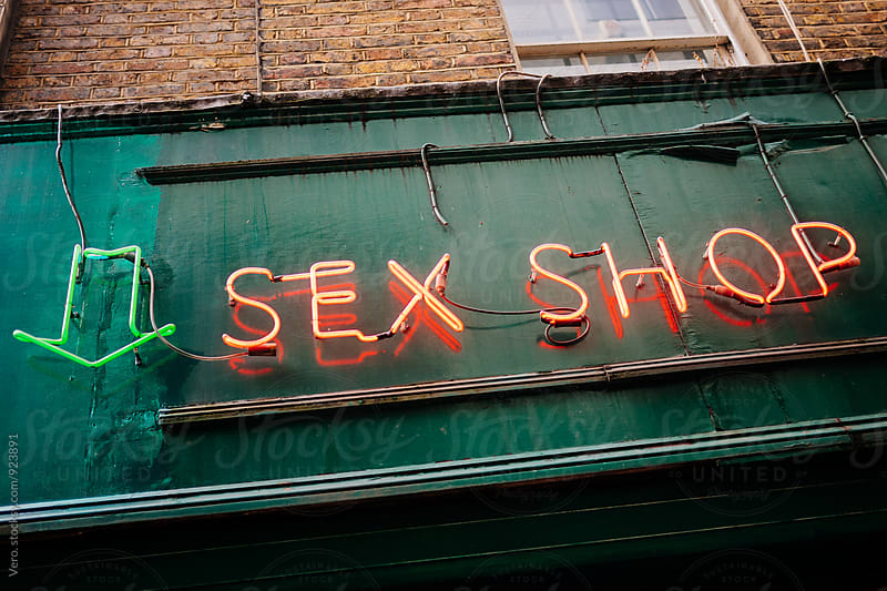 Sex Shop Sign by Good Vibrations Images for Stocksy United