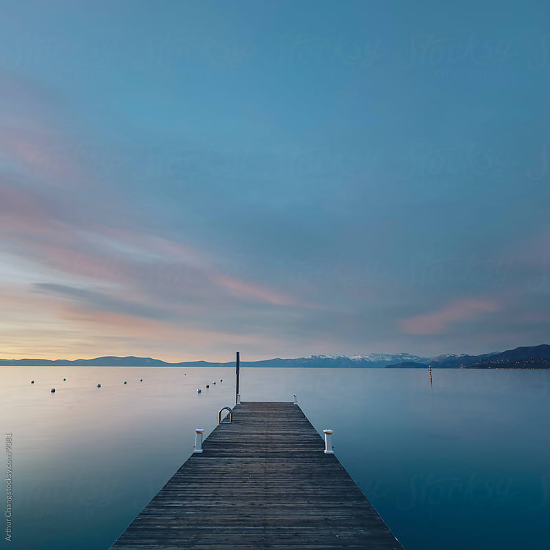 Blue Tahoe Sunset by Arthur Chang for Stocksy United