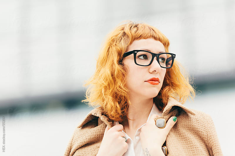Fashionable Ginger Businesswoman With Glasses by HEX. for Stocksy United