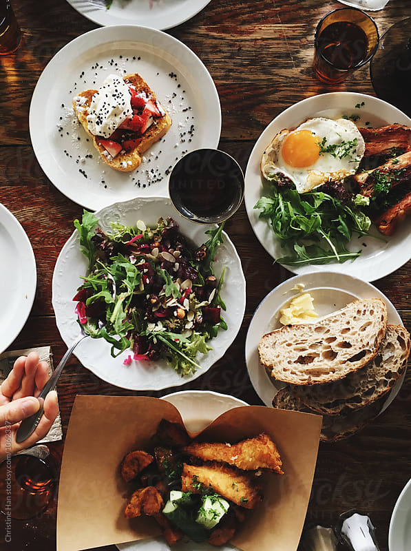 Brunch spread by Christine Han for Stocksy United