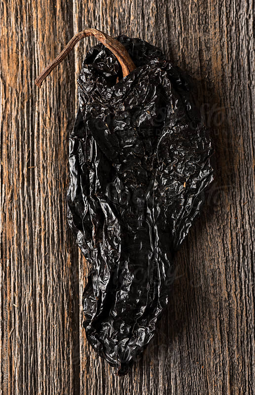 Mexican Food Ingredient: Ancho Chile Pepper by Jeff Wasserman for Stocksy United