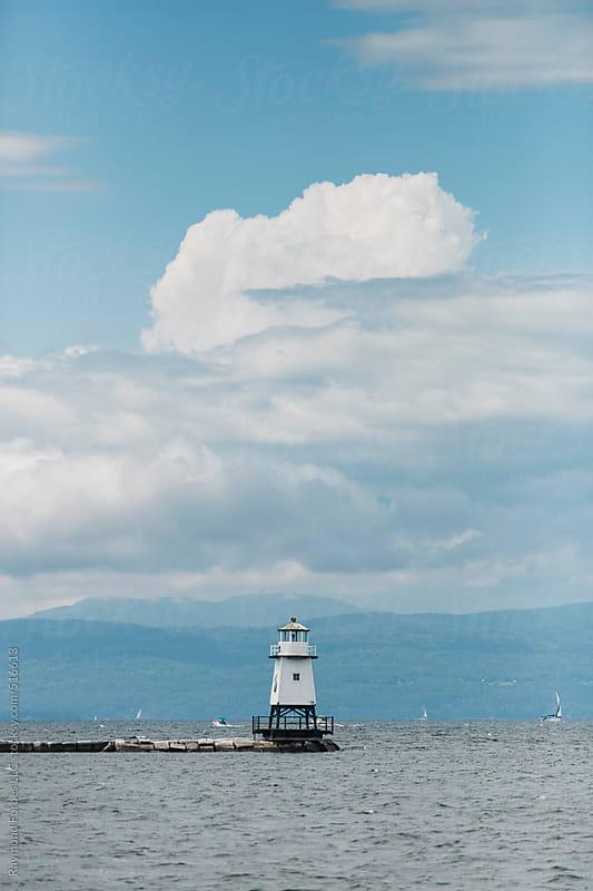 Burlington Breakwater North Light by Raymond Forbes LLC for Stocksy United