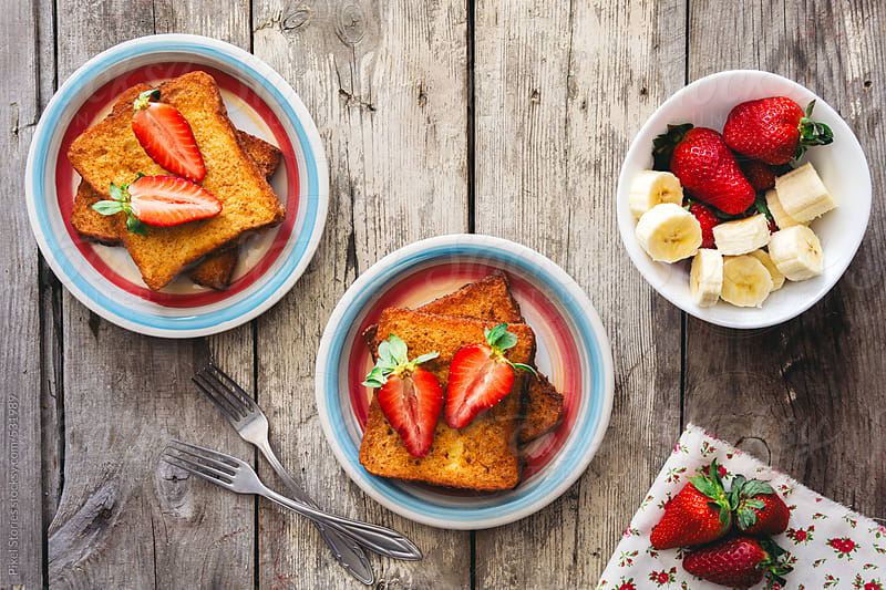 Food: french toast for breakfast by Pixel Stories for Stocksy United