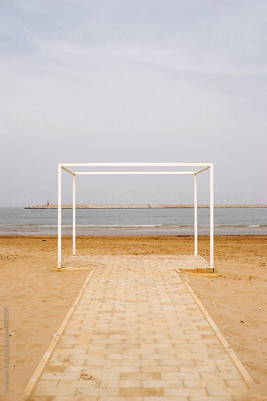structure on the beach by Tommaso Tuzj for Stocksy United