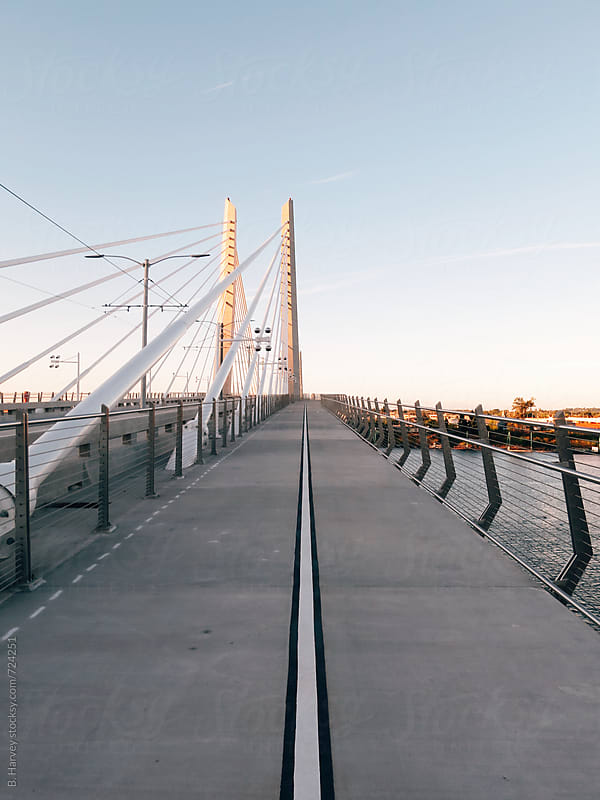 Pedestrian Bridge in Portland by B. Harvey for Stocksy United
