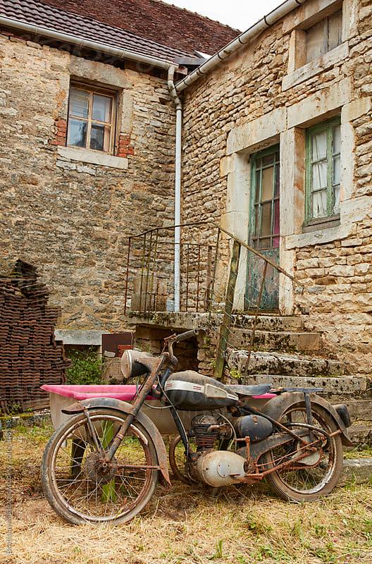 Old rusty motorcycle by Bratislav Nadezdic for Stocksy United