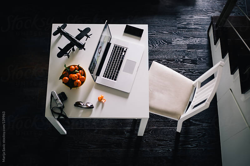 Working Desk from Above by Marija Savic for Stocksy United