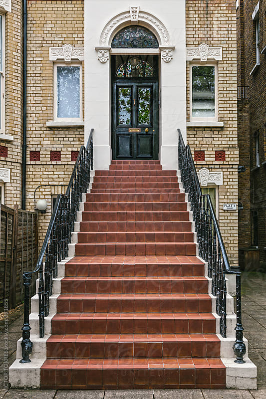 Old Classic London House Entrance by Victor Torres for Stocksy United
