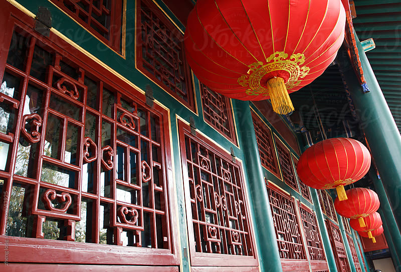 Chinese ancient mansion by zheng long for Stocksy United