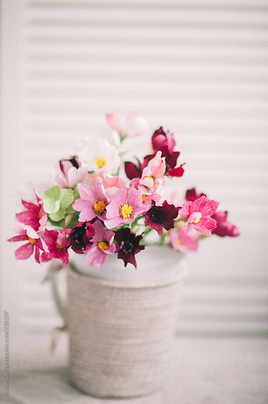 Delicate paper flowers bouquet by Adrian Cotiga for Stocksy United