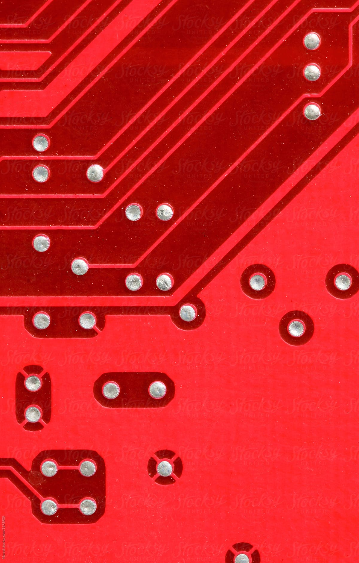 Macro Of A Printed Circuit Board Computer Stocksy United Paper By Marcel For