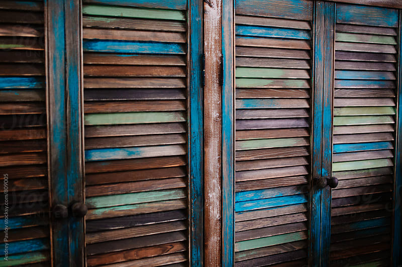Wooden colored wardrobe by Andrey Pavlov for Stocksy United
