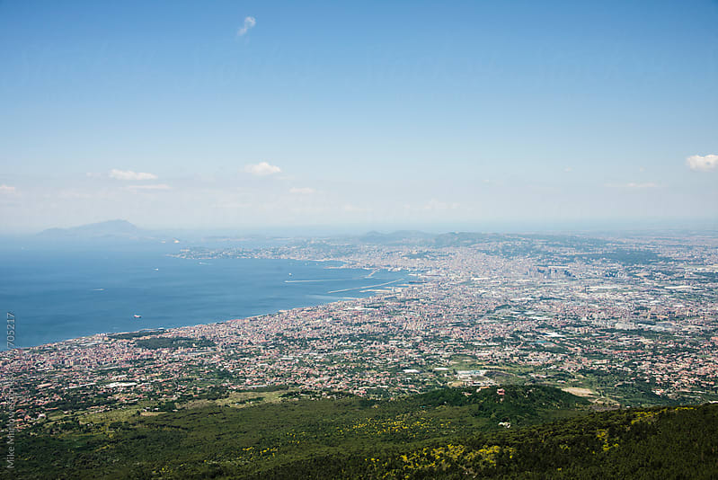 Ariel view of Naples in Italy by Mike Marlowe for Stocksy United
