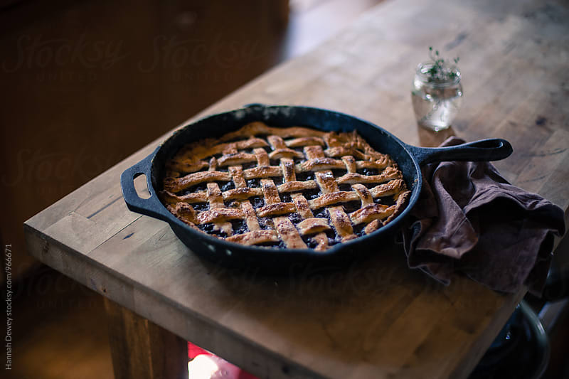 Homemeade Blueberry Pie by Hannah Dewey for Stocksy United