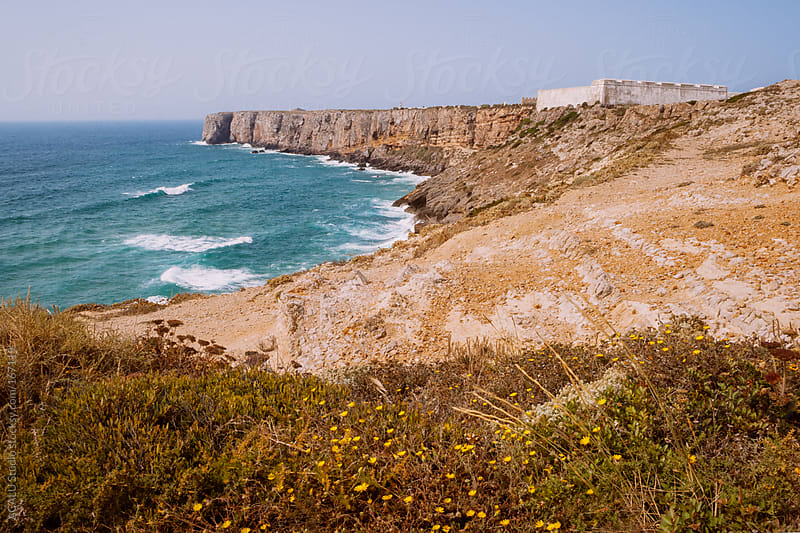 Fortified wall in Sagres by ACALU Studio for Stocksy United