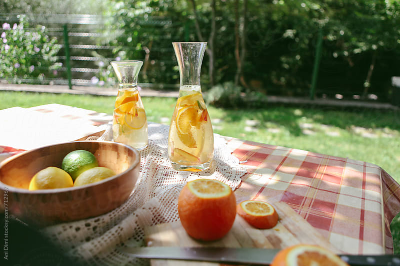 Homemade white sangria by Ani Dimi for Stocksy United