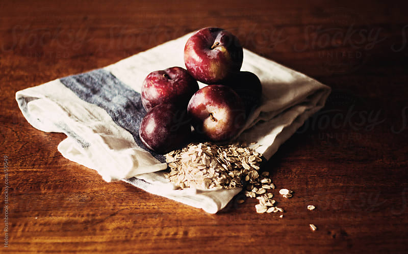 Oats and Plums by Helen Rushbrook for Stocksy United