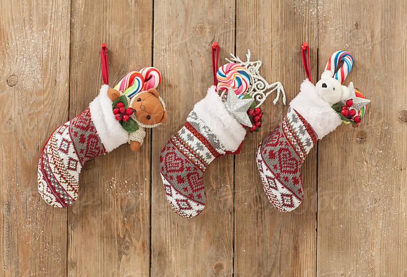 Hanging Christmas Socks by Mosuno for Stocksy United