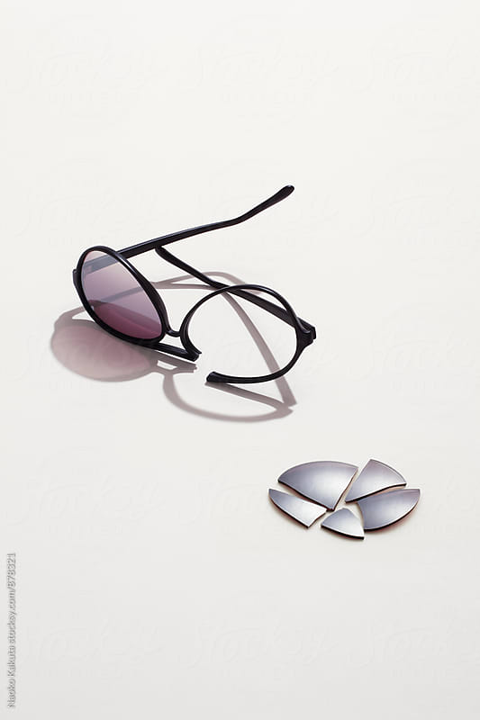 broken sunglasses by Naoko Kakuta for Stocksy United
