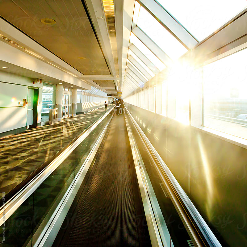 Walkway in the Toronto Airport by Thomas Hawk for Stocksy United