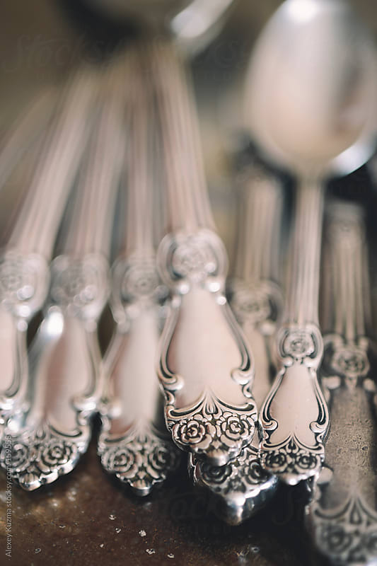 heap of vintage spoons by Alexey Kuzma for Stocksy United