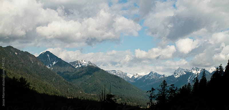 Wide angle view of the cascade mountains by Jesse Morrow for Stocksy United
