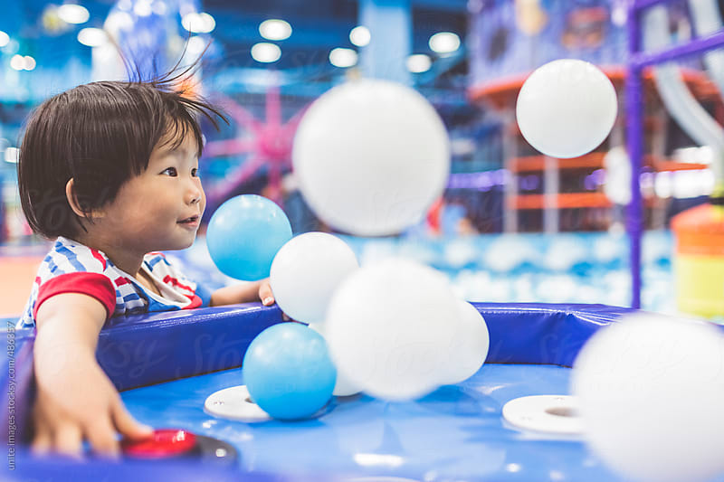 asian little girl(2-3) in playground by unite images for Stocksy United