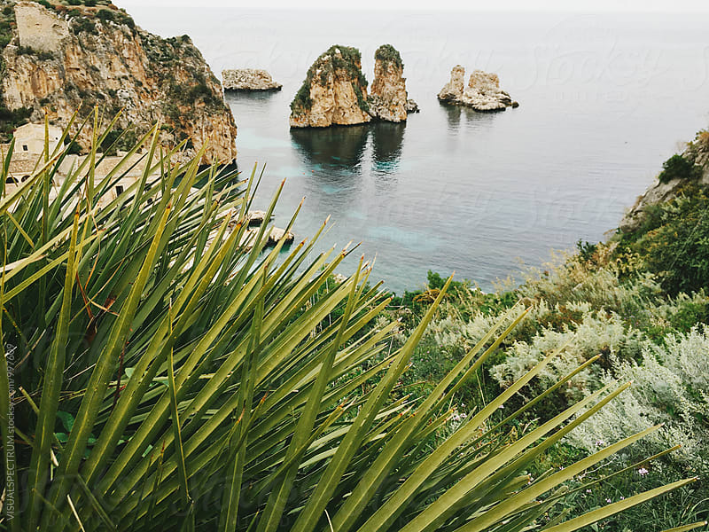 Italy - Greenery and Small Islands on Sicilian Coastline by VISUALSPECTRUM for Stocksy United