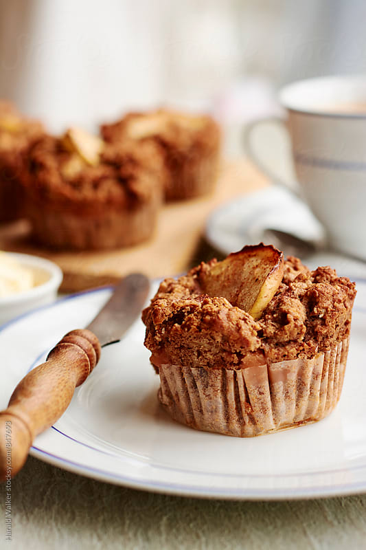 Buckwheat Apple Muffins by Harald Walker for Stocksy United