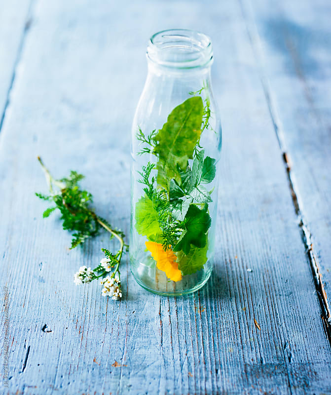 Wild herbs in a bottle by J.R. PHOTOGRAPHY for Stocksy United