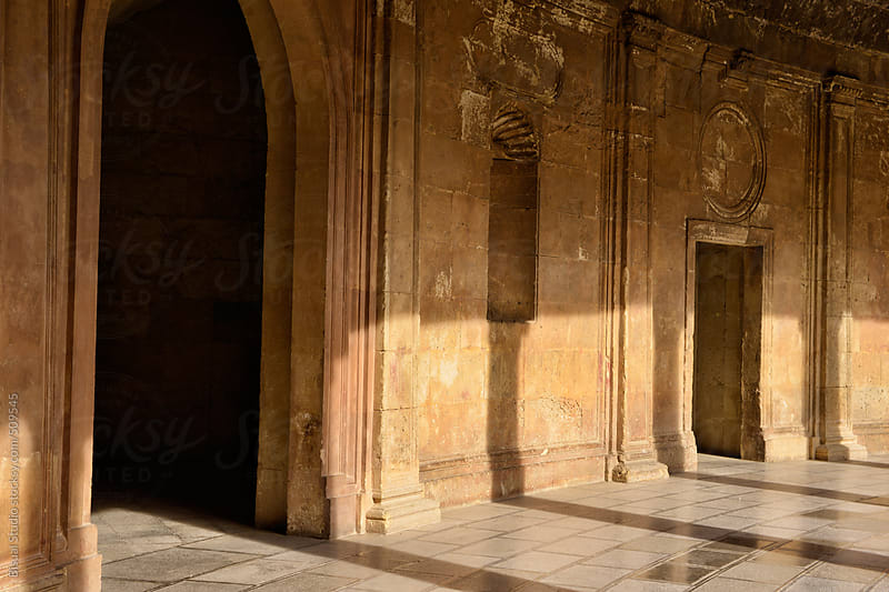 Palace of Carlos V in the  Alhambra of Granada, Spain by Bisual Studio for Stocksy United