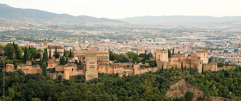 Panoramic view of Alhambra, Granada by Bisual Studio for Stocksy United