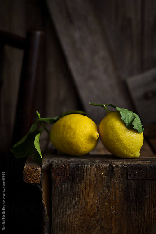 Lemon still life by Török-Bognár Renáta for Stocksy United