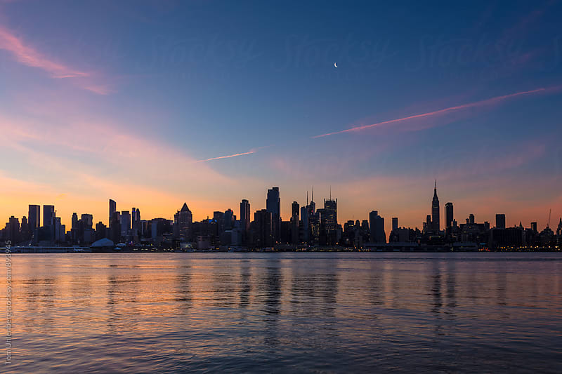 New York City - Midtown Manhattan Skyline at Dawn by Tom Uhlenberg for Stocksy United