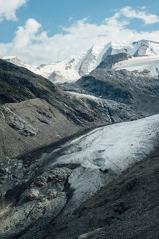 Morteratsch glacier by Peter Wey for Stocksy United