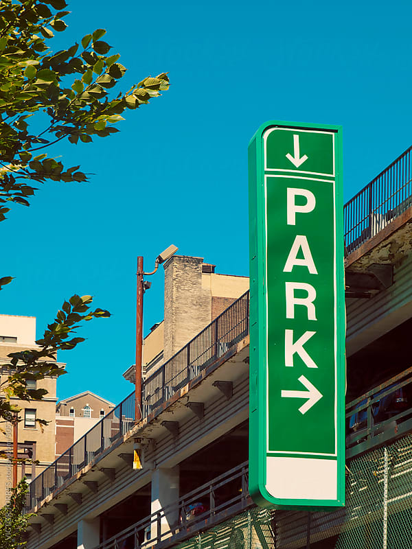 Green Park Sign by VICTOR TORRES for Stocksy United