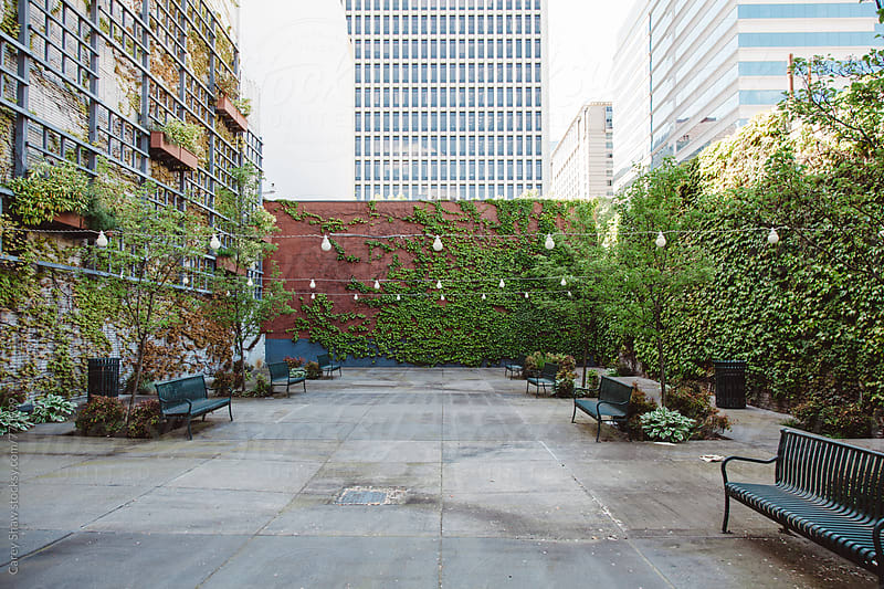 Outdoor urban city space by Carey Shaw for Stocksy United
