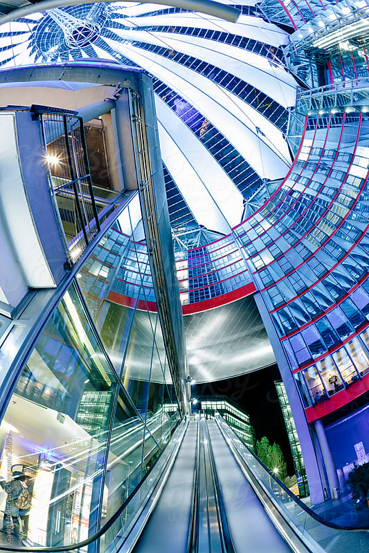 Europe, Germany, Berlin, futuristic design in Potsdamer Platz by Gavin Hellier for Stocksy United