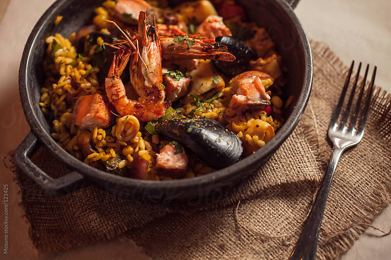 Mexican Paella With Seafood by Mosuno for Stocksy United