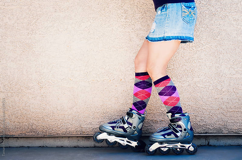 Girl On Rollerblades by Tamara Pruessner for Stocksy United