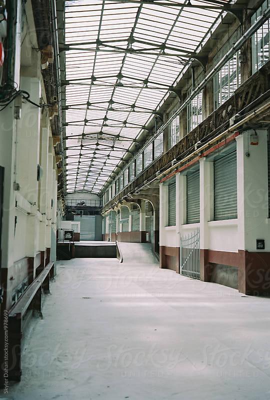 Industrial Hallway by Skyler Dahan for Stocksy United