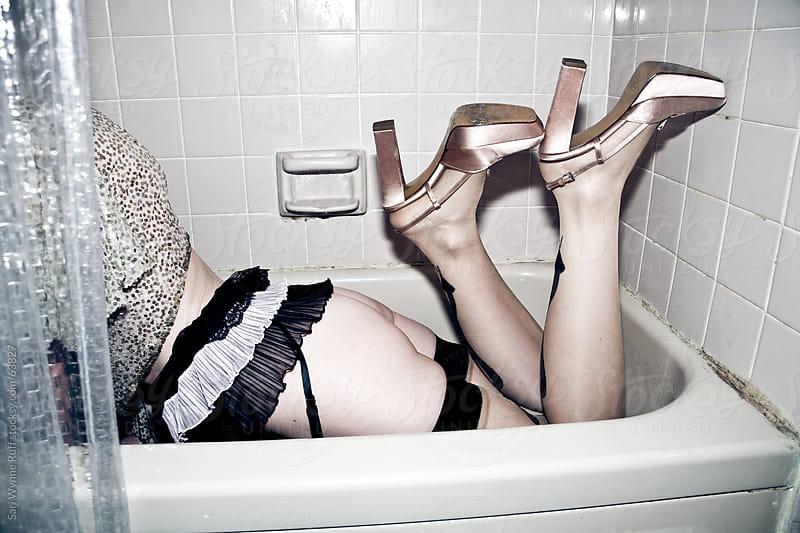 Sequins in Bathtub by Sari Wynne Ruff for Stocksy United