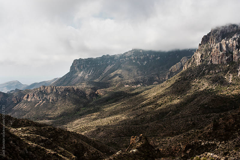 Vista Of The Chihuahua Mountains in Big Bend National Park by Jack Sorokin for Stocksy United