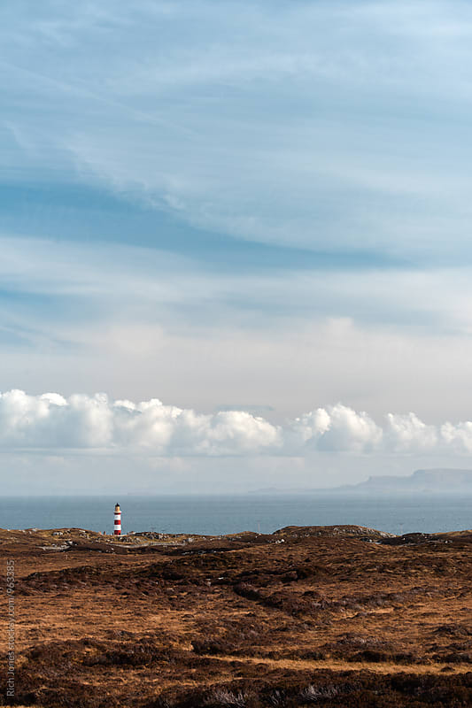 Eileen Glas Lighthouse, Isle of Harris by Rich Jones for Stocksy United