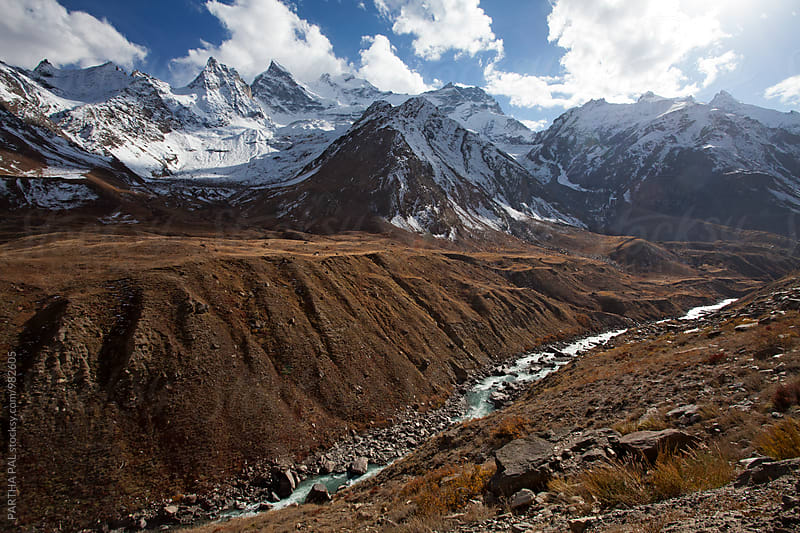 A mountain river in Ladakh,India by PARTHA PAL for Stocksy United